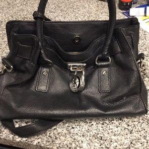 AUTHENTIC Small Michael Kors Black Hamilton Bag